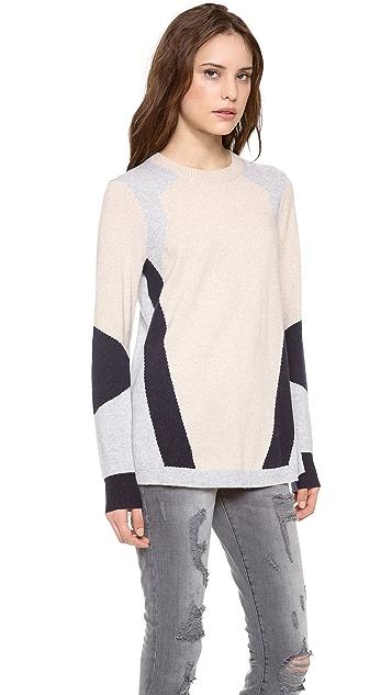 Rebecca Taylor Colorblock Intarsia Sweater