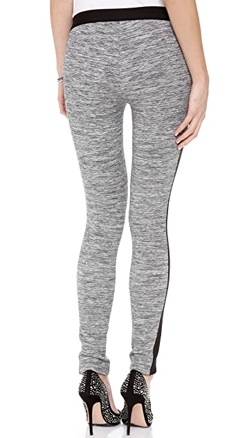 Rebecca Taylor Melange Knit Side Stripe Pants