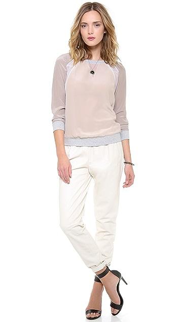 Rebecca Taylor Sweatshirt with Chiffon