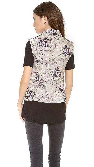 Rebecca Taylor Floral Leather Vest