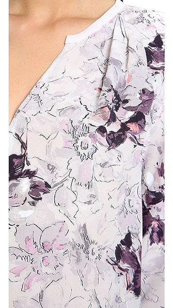 Rebecca Taylor Floral Print Blouse