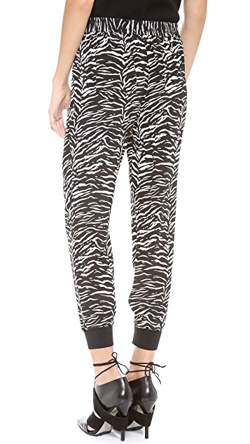 Rebecca Taylor Tiger Print Track Pants