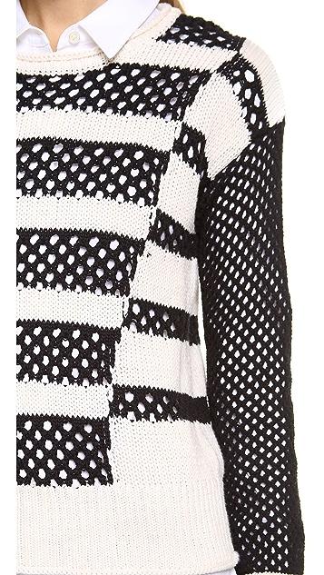 Rebecca Taylor Intarsia Pullover Sweater