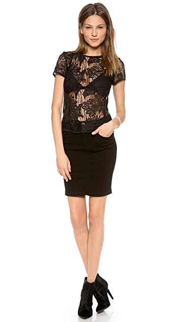 Rebecca Taylor Floral Lace Tee