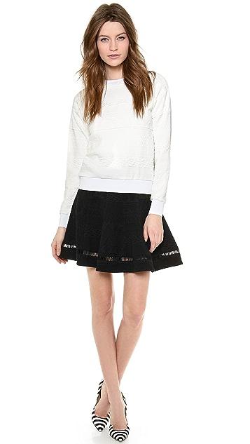Rebecca Taylor Jacquard Flip Skirt