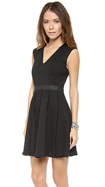 Rebecca Taylor Tweed & Ponte Dress