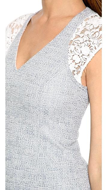Rebecca Taylor Short Sleeve Tweed Dress