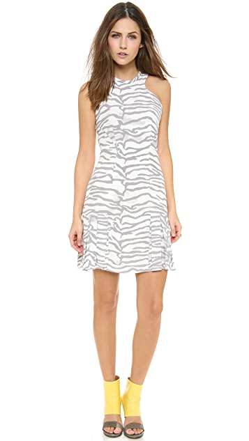 Rebecca Taylor Tiger Print Flare Dress
