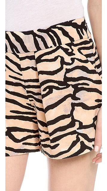 Rebecca Taylor Tiger Print Shorts