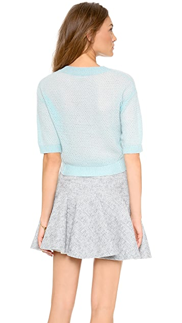 Rebecca Taylor Textured Cashmere Sweater