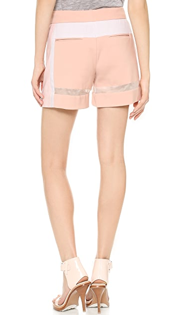 Rebecca Taylor Patchwork Shorts