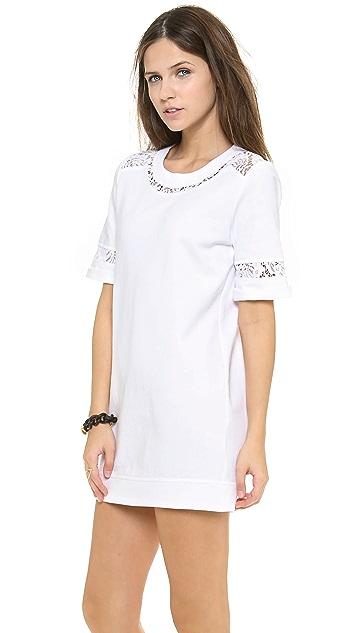Rebecca Taylor Lace Sweatshirt Dress