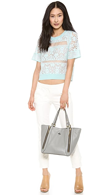 Rebecca Taylor Patch Lace Top