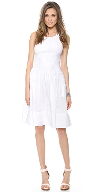 Rebecca Taylor Tuck Front Voile Dress