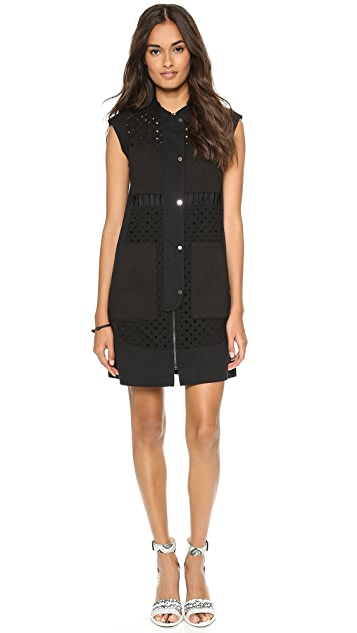 Rebecca Taylor Diamond Eyelet Shirtdress