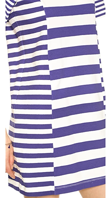 Rebecca Taylor Striped Jersey Dress