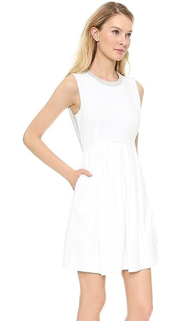 Rebecca Taylor Gathered Front Poplin Dress