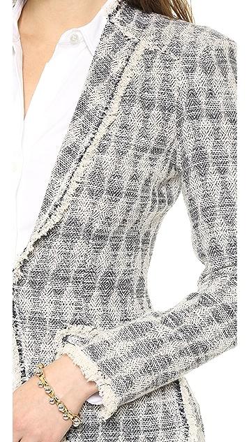 Rebecca Taylor Diamond Tweed Blazer