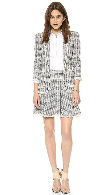 Rebecca Taylor Diamond Tweed Skirt