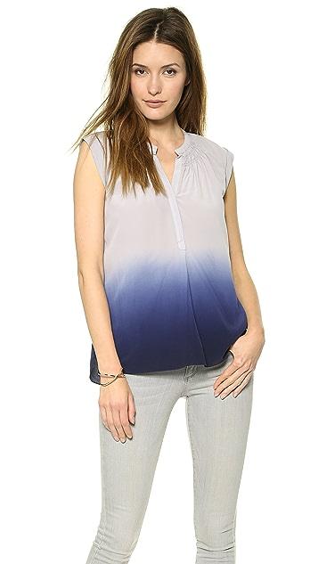 Rebecca Taylor Dip Dye Silk Top