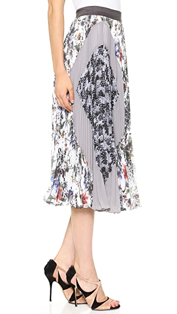 Rebecca Taylor Grey Gardens Pleated Midi Skirt