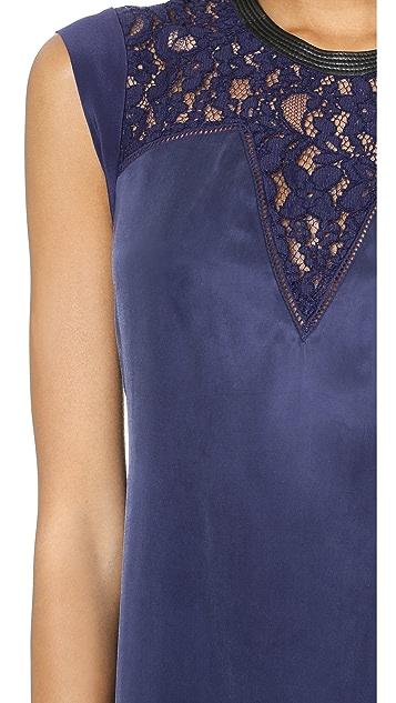 Rebecca Taylor Lace Mix Shift Dress