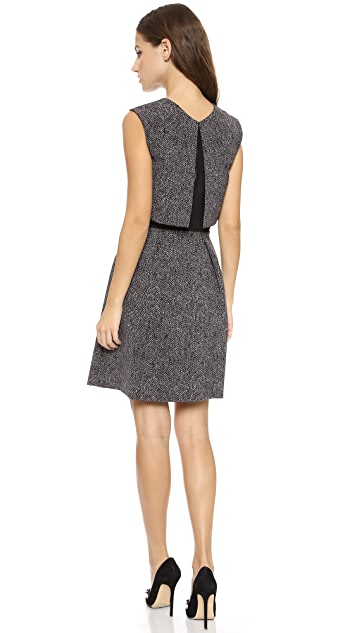 Rebecca Taylor Herringbone Suiting Dress
