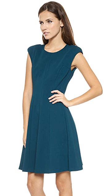 Rebecca Taylor Ponte Crew Neck Dress