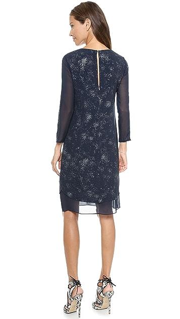 Rebecca Taylor Foil Printed Dress