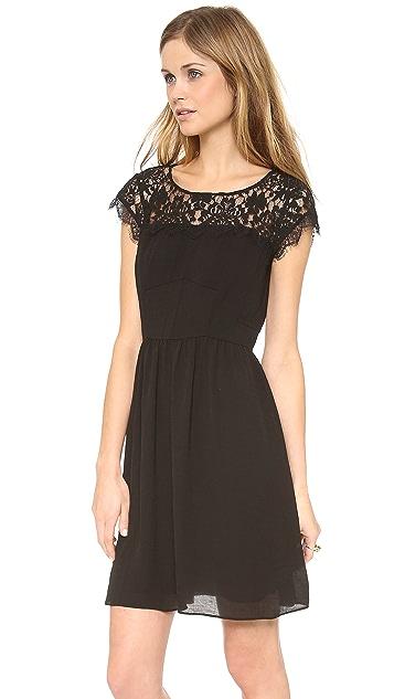 Rebecca Taylor Lace Yoke Dress