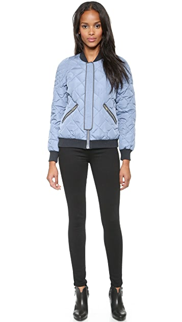 Rebecca Taylor Quilted Puffer Bomber