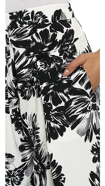 Rebecca Taylor Splashy Flower Print Culottes