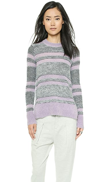 Rebecca Taylor Luxe Fluff 条纹套衫