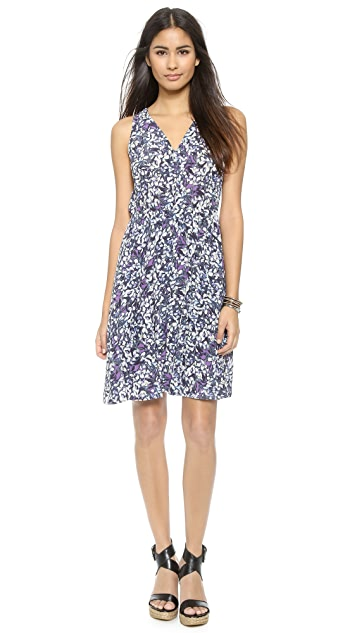ef5d61561fd Rebecca Taylor Blossom Print V Neck Dress