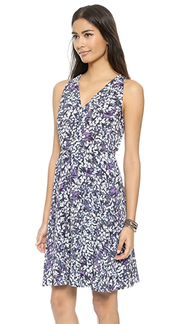 0fec3629665 ... Rebecca Taylor Blossom Print V Neck Dress ...