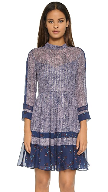 Rebecca Taylor Static Print Silk Dress