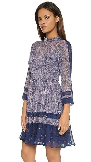 Rebecca Taylor Static Print Silk Dress