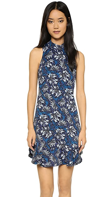 Rebecca Taylor Mystic Mock Neck Sleeveless Dress