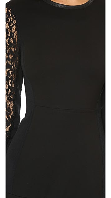 Rebecca Taylor Long Sleeve Ponte Dress