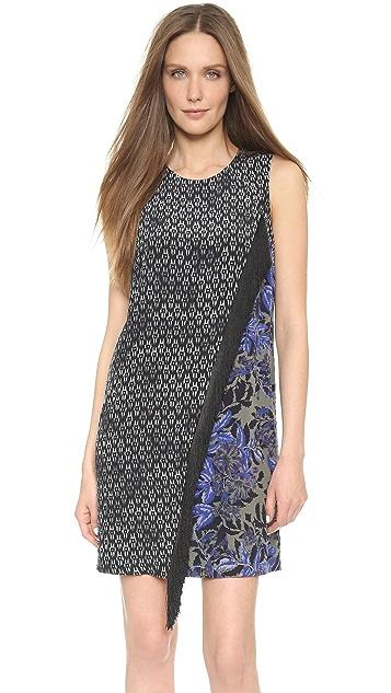 Rebecca Taylor Box Step Fringe Dress