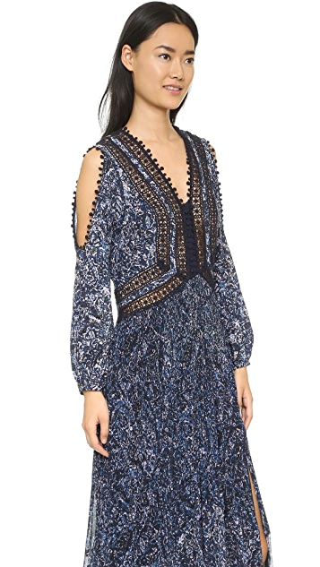 Rebecca Taylor Block Print Maxi Dress