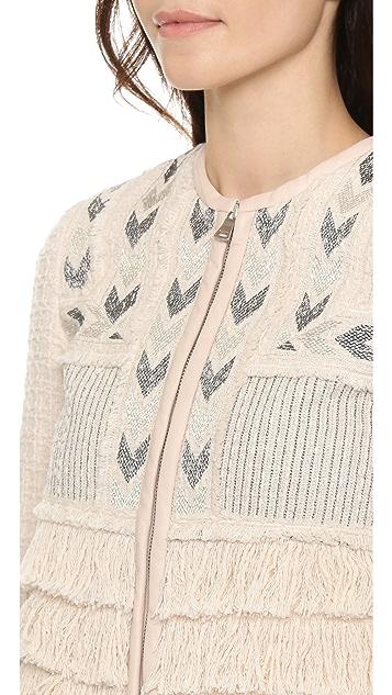 Rebecca Taylor Embroidered Fringe Jacket