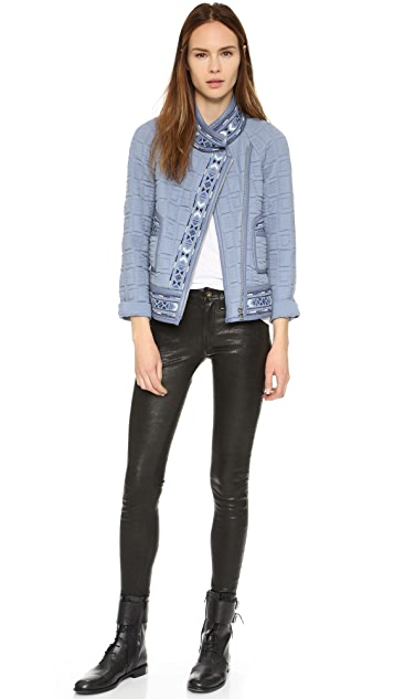 Rebecca Taylor Pickstitch Embroidered Jacket