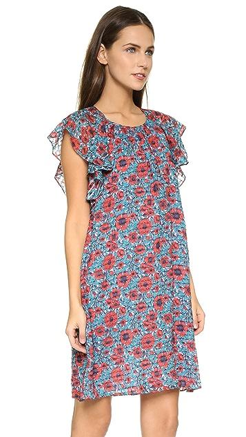 Rebecca Taylor Sleeveless Lindsay Ruffle Dress