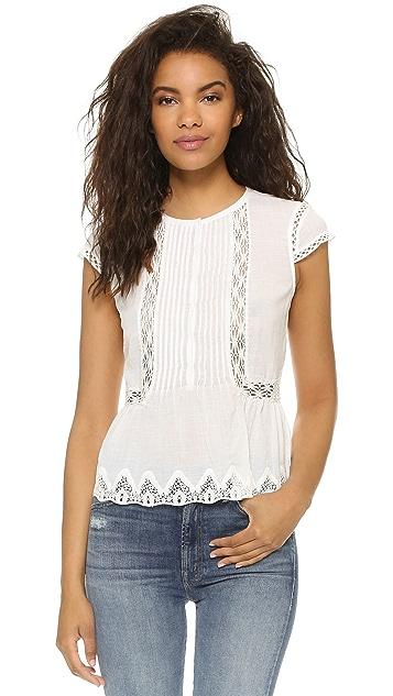 Rebecca Taylor Short Sleeve Gauze Top