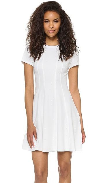 Rebecca Taylor Short Sleeve Knit Pique Dress