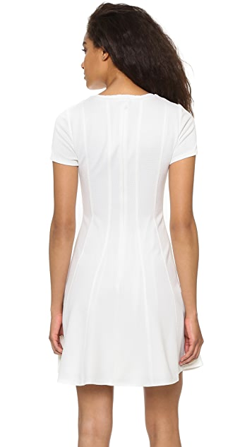 Rebecca Taylor Short Sleeve Knit Pique Dress