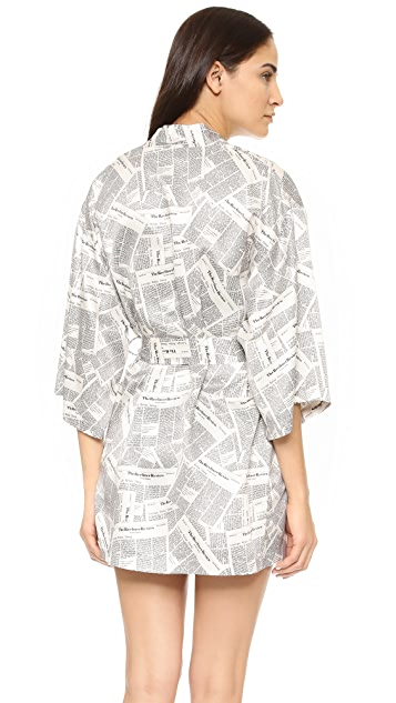 Recliner Newspaper Kimono