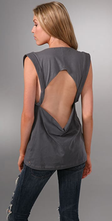 Re Collection Slash Back T-Shirt
