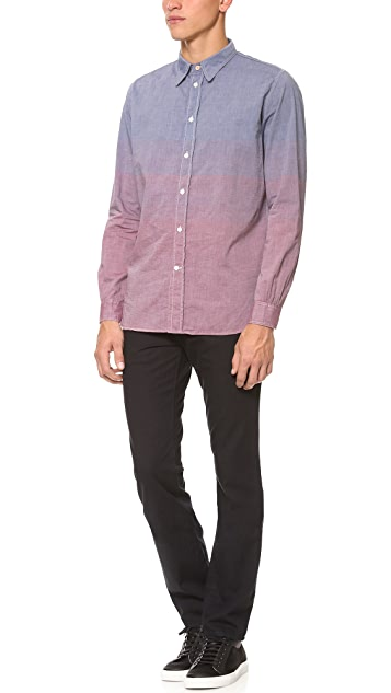 Paul Smith Red Ear Standard Fit Color Block Shirt